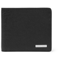 Hugo Boss Cross-Grain Leather Billfold Wallet