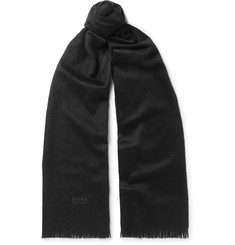 Hugo Boss Scottas Fringed Cashmere Scarf