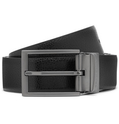 Hugo Boss 3.5cm Black and Brown Olarion Reversible Full-Grain Leather Belt
