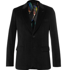 Paul Smith Black Slim-Fit Velvet Blazer