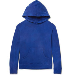 The Elder Statesman Garment-Dyed Fleece-Back Cotton-Jersey Hoodie