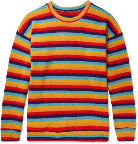 The Elder Statesman Sunset Striped Cashmere Sweater In Multi