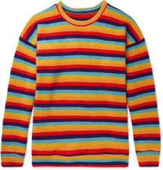 The Elder Statesman - Sunset Striped Cashmere Sweater