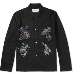 Our Legacy Box Embroidered Wool Overshirt