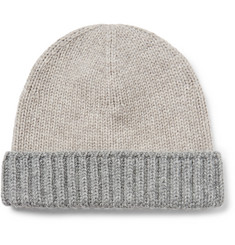 Loro Piana Denver Two-Tone Ribbed Cashmere Beanie