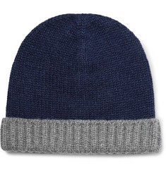 Loro Piana Two-Tone Ribbed Cashmere Beanie