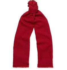 Loro Piana Super Wish Virgin Wool-Twill Scarf