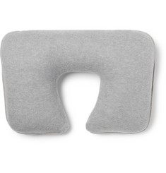 Loro Piana - Suede-Trimmed Cashmere-Blend Travel Pillow