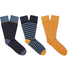 Corgi - Three-Pack Cotton-Blend Socks