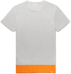 Orlebar Brown Sammy Colour-Block Mélange Cotton-Jersey T-Shirt