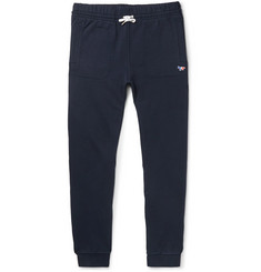 Maison Kitsuné Slim-Fit Tapered Loopback Cotton-Jersey Sweatpants