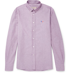 Maison Kitsuné Button-Down Collar Cotton Oxford Shirt