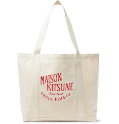 Maison Kitsuné - Palais Royal Printed Canvas Tote Bag