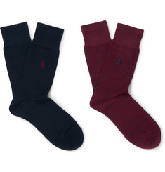 Polo Ralph Lauren - Two-Pack Stretch Cotton-Blend Socks