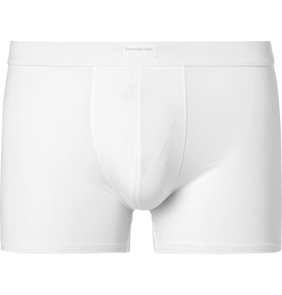 Stretch-modal Boxer Briefs - White