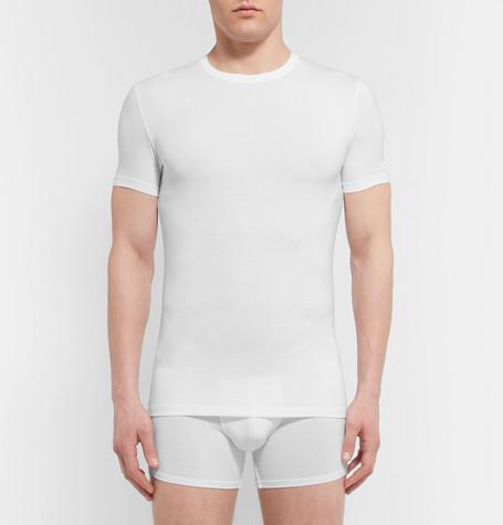 ERMENEGILDO ZEGNA Stretch-Modal T-Shirt in White