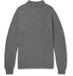 Margaret Howell Merino Wool and Cashmere-Blend Mock-Neck Sweater