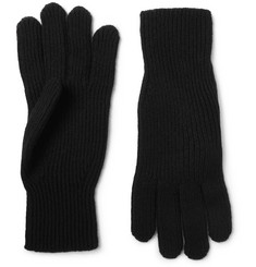 Margaret Howell - Ribbed Merino Wool and Cashmere-Blend Gloves