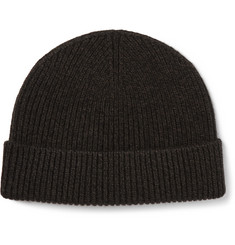 Margaret Howell Ribbed Merino Wool and Cashmere-Blend Beanie