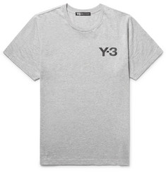 Y-3 Printed Mélange Cotton-Jersey T-Shirt