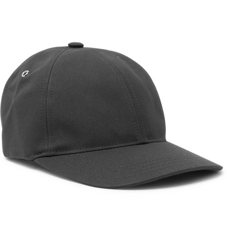 Cotton-canvas Baseball Cap - Black
