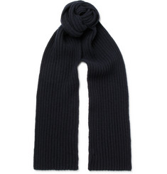 A.P.C. - Ribbed Wool and Cashmere-Blend Scarf