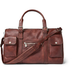 Brunello Cucinelli Burnished-Leather Holdall