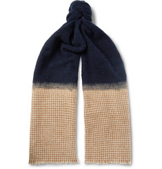Brunello Cucinelli - Bouclé and Houndstooth Cashmere-Blend Scarf