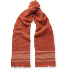 Brunello Cucinelli Striped Cashmere-Blend Scarf