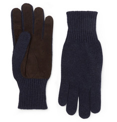 Brunello Cucinelli Suede-Panelled Cashmere Gloves
