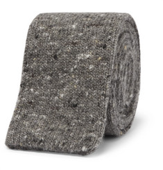 Brunello Cucinelli - 5.5cm Mélange Knitted Wool and Cashmere-Blend Tie