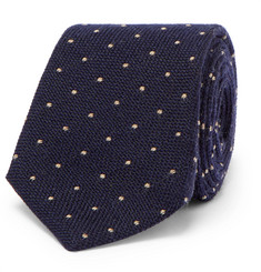 Brunello Cucinelli - 7cm Polka-Dot Wool and Silk-Blend Tie
