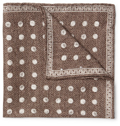 Brunello Cucinelli Polka-Dot Silk-Jacquard Pocket Square