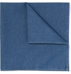 Brunello Cucinelli - Cotton-Chambray Pocket Square