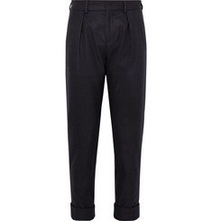 Maison Kitsuné - Joe Slim-Fit Pleated Wool-Blend Trousers