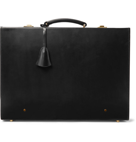 Kingsman Swaine Adeney Brigg Papworth Leather Briefcase In Black ... 2f372e0ca8303