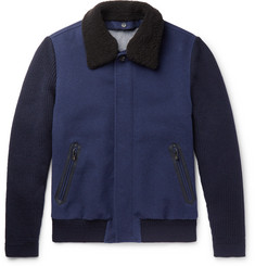 Ermenegildo Zegna Shearling-Trimmed Cashmere and Wool Jacket