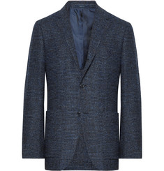 Ermenegildo Zegna - Navy Slim-Fit Prince of Wales Checked Woven Blazer
