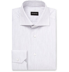 Ermenegildo Zegna - Cutaway-Collar Striped Cotton Shirt