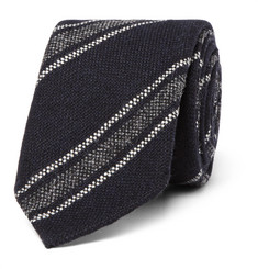 Drake's 8cm Striped Wool Tie