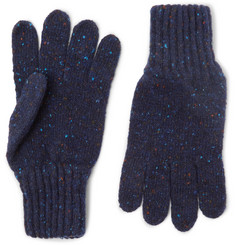 Drake's Ribbed Donegal  Merino Wool Gloves