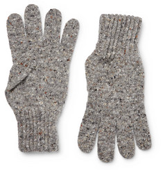 Drake's - Ribbed Donegal  Merino Wool Gloves