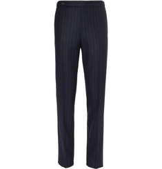 Drake's - Easyday Navy Chalkstriped Wool Suit Trousers