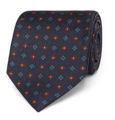 Drake's 7cm Patterned Silk Tie