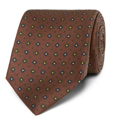 Drake's Easyday 7cm Patterned Silk Tie