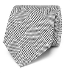 Drake's - Easyday 7cm Prince Of Wales Checked Silk Tie