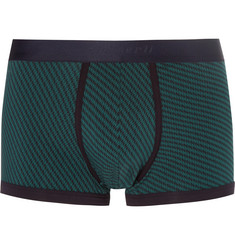Zimmerli - Printed Stretch-Cotton Boxer Briefs