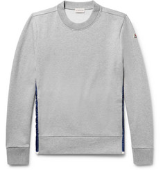 Moncler Shell-Panelled Fleece-Back Cotton-Jersey Sweatshirt