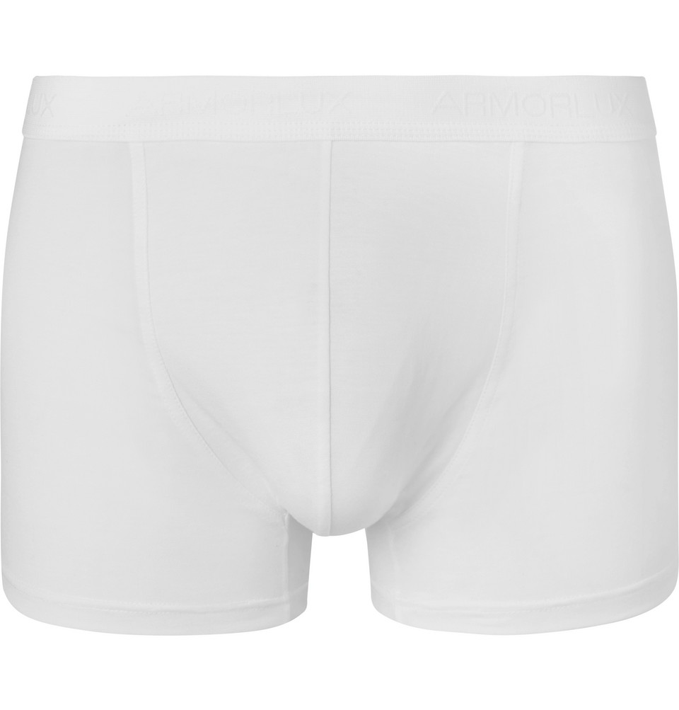 Stretch-cotton Jersey Boxer Briefs - White