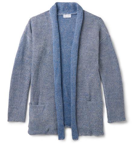 Melange Cotton-Blend Shawl-Collar (Free Shipping) NdovaRvt